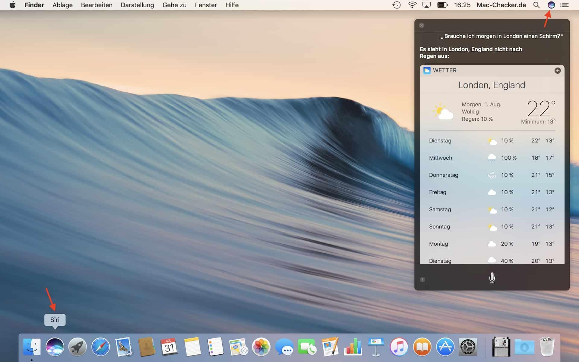 Apples Assistent Siri kann über verschiedene Wege aufgerufen werden. In Macs ab 2018 reagiert er sogar auf Zuruf (