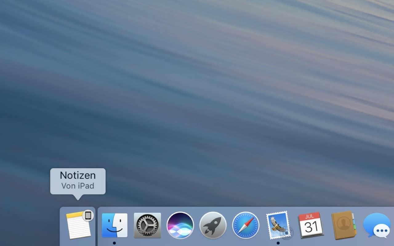 Mit Continuity kannst Du nahtlos auf anderen Geräten weiterarbeiten, z.B. Notizen vom iPad in macOS…