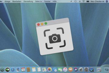Screenshot Mac: Lächeln zum Bildschirmfoto in macOS